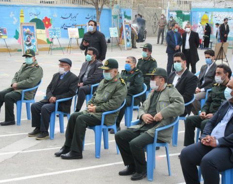 حضور و بازدید فرمانده کل سپاه پاسداران از دبستان حمایتی شهید اقبالی
